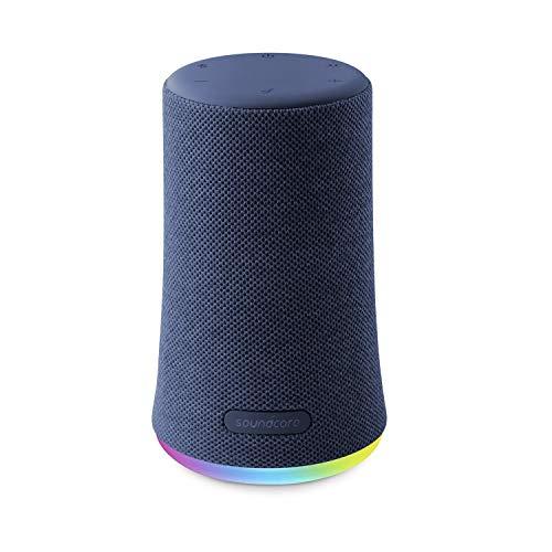 Anker Soundcore Flare Mini Bluetooth スピーカー 防水 重低音 360°サウンド 10W出力 大音量 ステレオペアリング IPX7 (ブルー)