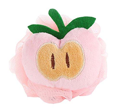4 pièces Joli pomme séponge de bain douce/douche enfant éponge(Diamètre: 10cm)