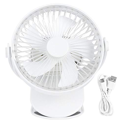 Desktop Mini Fan Portable Mute Koelventilator Elektrische USB oplaadbare ventilator met LED Night voor thuiskantoor Schoolgebruik