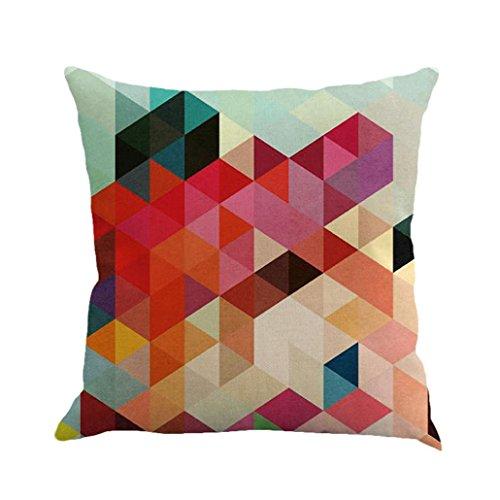 Indexp - Funda de cojín geométrica, de arte abstracto, relleno de espesor y reposo silencioso, funda de almohada para sofá, Multicolor A, 45cm*45cm/18*18'
