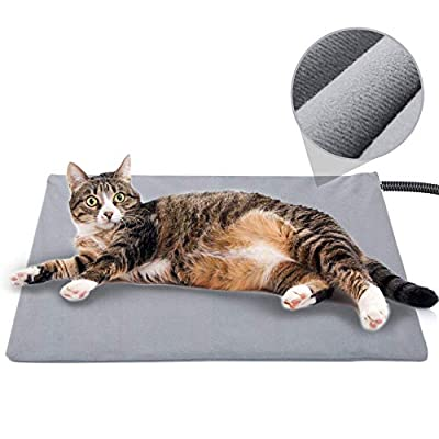 Pet Heating Pad for Cats Dogs,Soft Electric Blanket Auto Temperature Control Waterproof Indoor,Animal Bed Warmer House Heater Heated Floor Mat,Whelping Supply for Pregnant New Born Pet