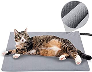 Pet Heating Pad for Cat Dog,Soft Electric Blanket Auto Temperature Control Waterproof Indoor,House Heater Animal Bed Warmer Heated Floor Mat,Whelping Supply for Pregnant New Born Pet (17.7''x15.7'')