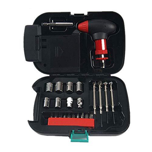 RGLZY Kfz-Notfall-Multifunktionswerkzeugkasten, 24-Teiliges Set Haushaltswerkzeugset, Für Alle Arten Von Notfällen Geeignet