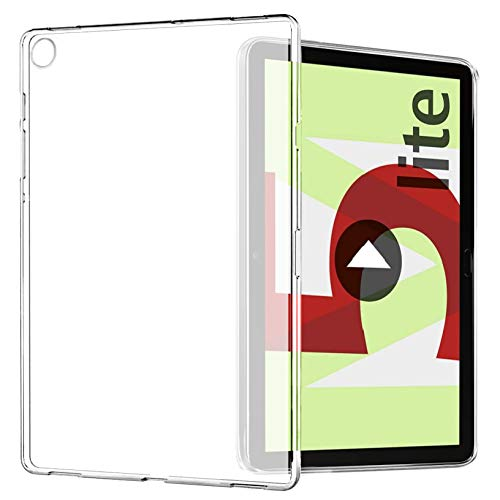 Yoowei Funda Compatible con Huawei MediaPad M5 Lite 10, Espalda Translúcida Mate Blanda Flexible Ligera Ultra Delgada Protectora Case para MediaPad M5 Lite 10.1 Pulgadas