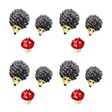 NUOBESTY 12 Piezas de Resina Figuras de Erizos en Miniatura Accesorios de Jardín de Hadas Animales d...