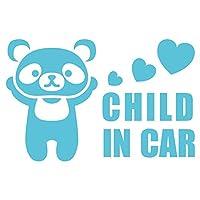 imoninn CHILD in car ステッカー 【パッケージ版】 No.12 パンダさん (水色)