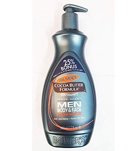 Palmer's Cocoa Butter Formula Men Body & Face Moisturizer Lotion, 13.5 oz (Pack of 2)