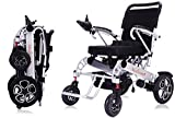 Medwarm Folding Power Wheelchair, Durable Motorized Wheelchair with Two Powerful Motors, Solid Electric Wheelchair for Adults