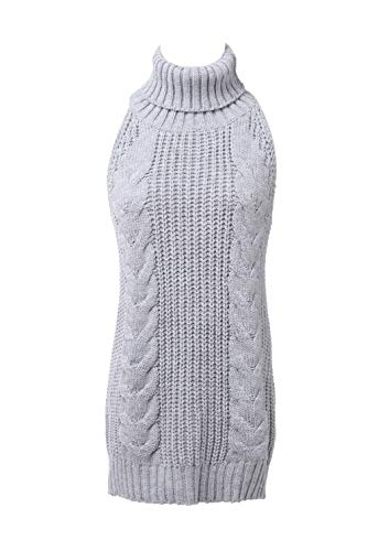 ROLECOS Japanese Anime Backless Turtleneck Vest Sweater