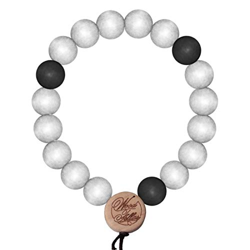 wood fellas Deluxe Pearl ying-yang 12 mm Bianco/Nero
