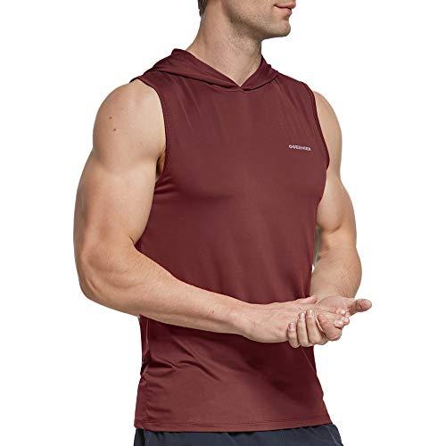 Ogeenier Camiseta Tirantes Hombre con Capucha Deportiva Camiseta sin Manga Running Fitness Tank Top