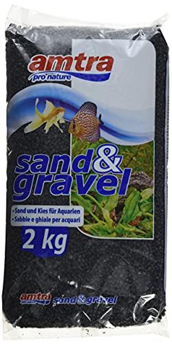 AMTRA Quartz en Céramique pour Aquariophilie Noir 2 kg