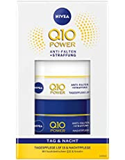 NIVEA Q10 Cadeauset voor dag- en nachtverzorging, met Q10 Power anti-rimpel + versteviging dagverzorging en Q10 Power anti-rimpel + versteviging nachtverzorging, wellnesscadeau