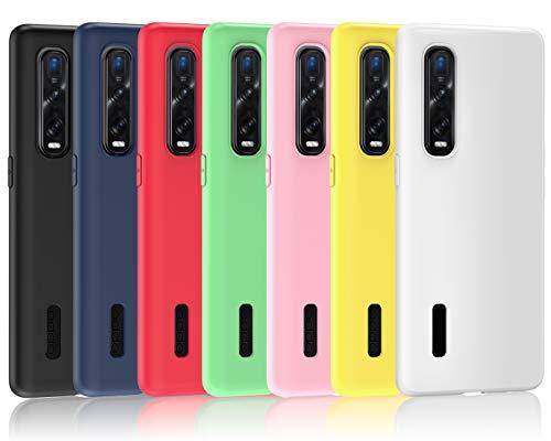 ivoler 7 Stücke Hülle für Oppo Find X2 Pro, Ultra Dünn Tasche Schutzhülle Weiche TPU Silikon Gel Handyhülle Hülle Cover (Schwarz, Blau, Grün, Rosa, Rot, Gelb, Weiß)