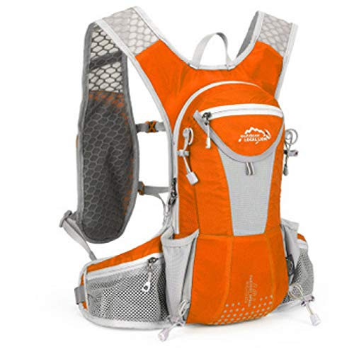 SONG Bicycle Backpack Waterproof Mountain Bike Water Bag Nylon Cycling Hiking Camping Running Hydration Backpack Bike Bag,C