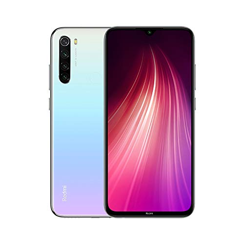 Xiaomi Redmi Note 8 (64GB, 4GB) 6.3' Display, Snapdragon 665, 48MP Quad Camera, Dual SIM GSM Factory Unlocked - US & Global 4G LTE International Version (Moonlight White, 64GB + 64GB SD + Case Bundle)