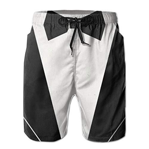 YongColer Men Bathing Suit Swim Trunks Quick Dry Beach Shorts - Bow Tie Tuxedo