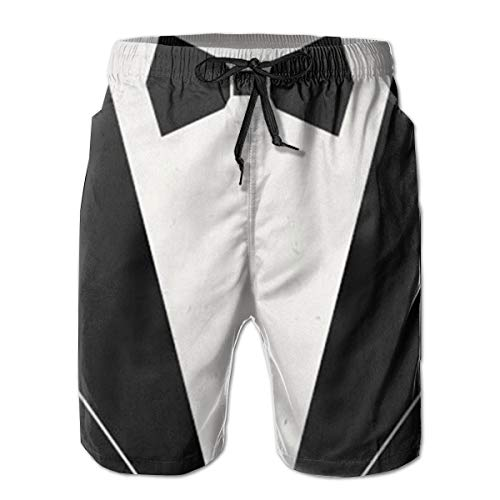 YongColer Men Bathing Suit Swim Trunks Quick Dry Beach Shorts - Bow Tie Tuxedo