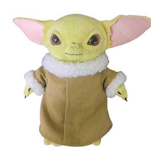 Baby Yoda Plush Figures, Stuffed Little Yoda Toys niños Plush Action Dolls Regalo para Star Wars Mandalorian Fans 11inch