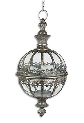 Unbekannt HÄNGE Laterne Kugel Orient 53cm H ANTIK Nostalgie Stil Metall HÄNGELATERNE Lampe WO-1090