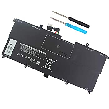 NNF1C Laptop Battery for Dell XPS 13 2 in 1 9365 XPS 13 9365 2-in-1 2017 XPS 13-9365-D1605TS D1805TS D2805TS D3605TS D3805TS D4605TS Series HMPFH 0NNF1C NP0V3 0HMPFH P71G P71G001 7.6V 46WH