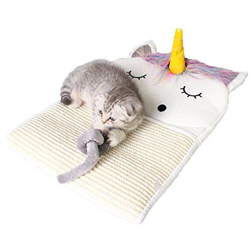 QINYL Eenhoorn Grappige Cat Board Kitten spelen deken, kat Sisal kat klauw plaat, B