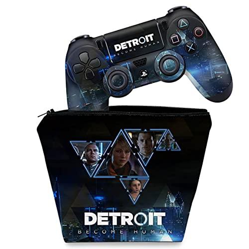 Capa Case e Skin Adesivo PS4 Controle - Detroit Become Human
