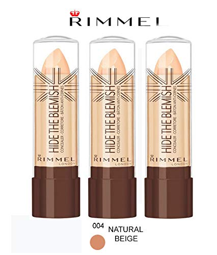Kit 3 pz Rimmel Hide The Blemish Correcteur en stick 4,5 g 004 NATURAL beige