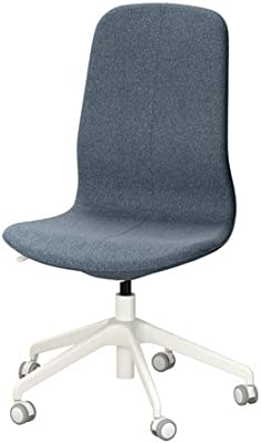 IKEA Swivel Desk Chair, Gunnared Blue, White 2386.232323.1418