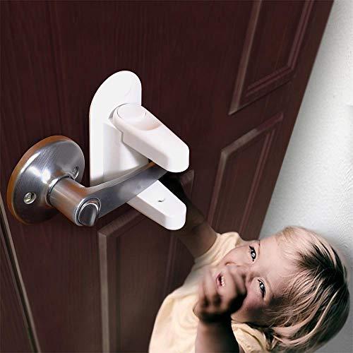 TianranRT Tür Door Hebel Schloss (2 Stück) Kind Proof Türen & Griffe Klebstoff Kind Sicherheit