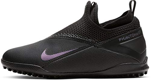 Nike Phantom VSN 2 Academy DF TF, Botas de fútbol Unisex niños, Negro 010, 37.5 EU
