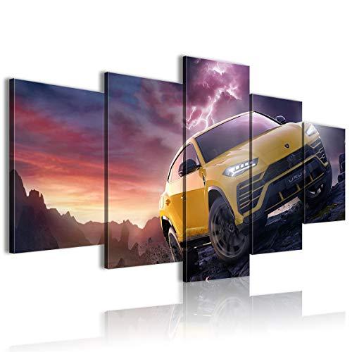CELLYONE Lienzo Arte de la Pared Pintura de decoración del hogar de 5 Piezas Forza Motorsport: Horizon 4 Posters Impresiones en HD Obra de Arte Regalo 200x100cm Sin Marco