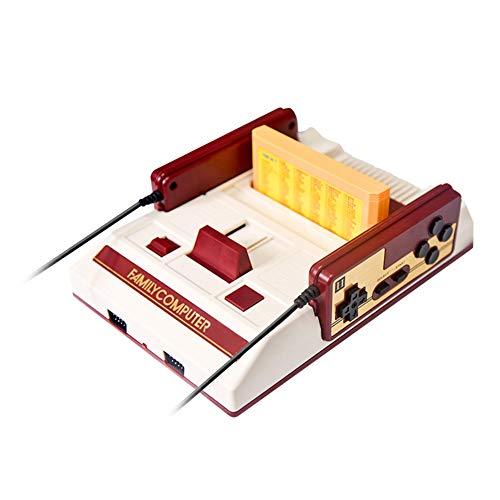 Alician Klassischer nostalgischer 8-Bit-Videospielkonsolen-Player mit 2 Joysticks + 500 in 1 Spielkartenspiel-Player zu TV Elektronisches Zubehör