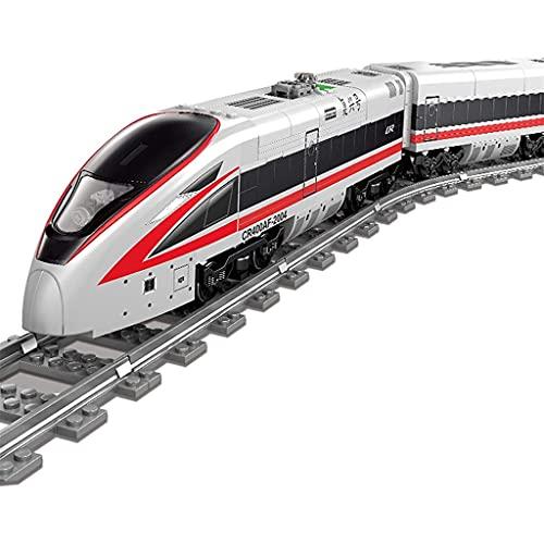 Bausteine Revival City Zug Set mit Track Building Blocks 3D Puzzle Modell DIY Spielzeug Kreative Geburtstagsgeschenke für Kid Kinder Pädagogische Spielzeug 647 Stück