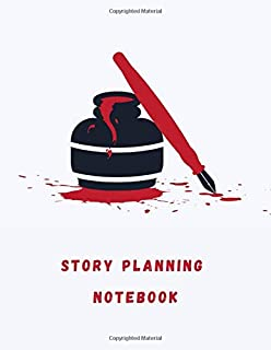 Story Planning Notebook: Simple journal for pantser writing process, structuring and outlining your novel