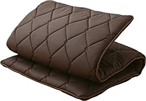 "[Ready to use!] The futon is not vacuum sealed to reduce the volume like other futons, you can enjoy the plump and comfortable futon just after delivery. [Three layered ""sandwich"" structure] A firm pad inside supports your body, and outside fiberfill..."