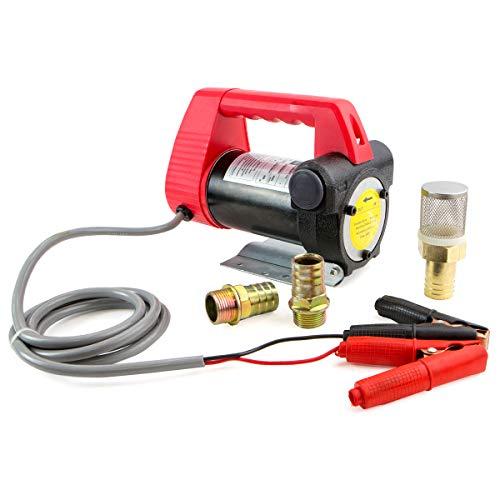 Stark 12V Commercial Portable DC Electric Fuel Transfer Pump Diesel Oil Kerosene Fuel Transfer Extractor Pump Motor Auto Self Priming Pump