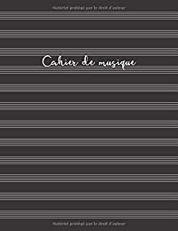 Cahier de musique: Cahier de partitions - Couvertu