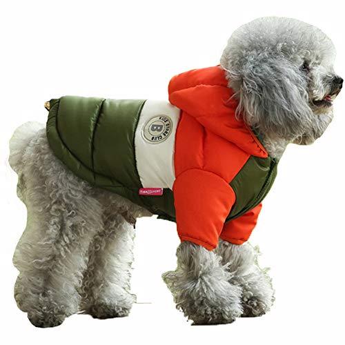 DOGGYZSTYLEWinter Dog Hoodie Coat Waterproof Down Jacket Puppy Cat Windproof Cold Weather Coat Pet...