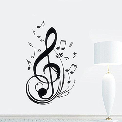 skyllc® Decorazione della Stanza dell'autoadesivo della Parete della Decalcomania della Parete della Nota di Musica del Vinile Impermeabile