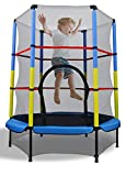 Kanchimi 48 Inch Mini Trampoline for Kids,with Enclosure Net & Safety Pad,Toddler Trampoline with Built-in Zipper for Indoor/Outdoor