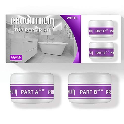 Tub, Tile, Porcelain and Shower Repair Kit Fiberglass Repair Kit Tub and Tile Refinishing Kit - White (3.5oz) NEW VERSION