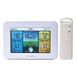 AcuRite 02041M Color Weather Station with Forecast, Temperature, Humidity,White