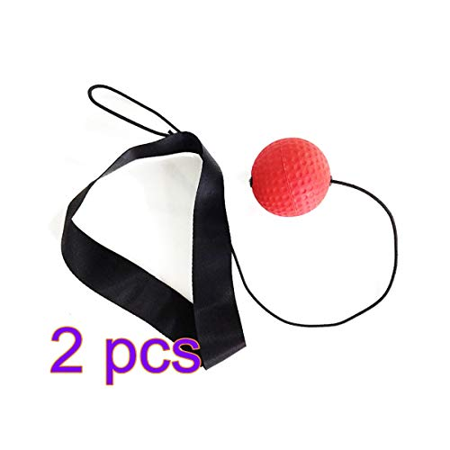 Reflex Boxing Ball, 2pcs Boxing Speed Training Ball, Boxing Reflex Speed Punch Ball Training Hand Eye Coordination Balls with Headband, Gym Exercise Boxing Boxer Ball for Man Woman Adults Teens Child