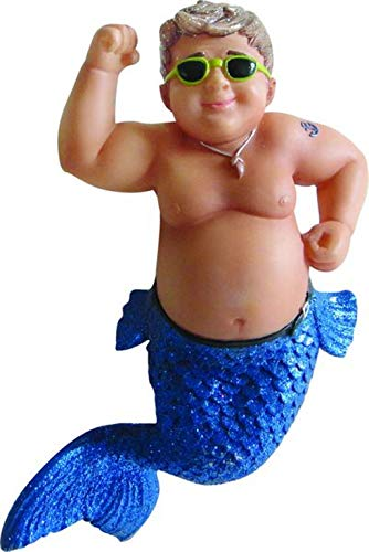 December Diamonds Muscle Beach Flexing Merman Christmas Ornament 5590780 New