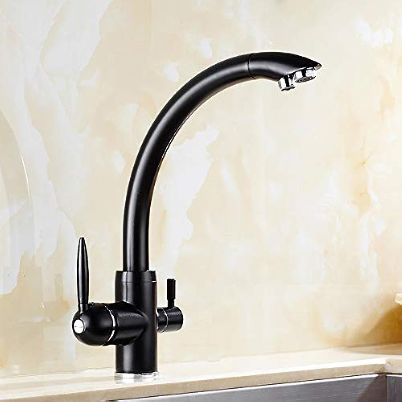 Messing drehen 3 in 1 Trinkwasser Küchenarmatur Spüle Wasserhahn Mischer 3-Wege-Filter Wasserhahn