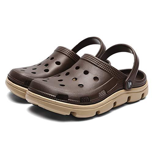 UXZDX Summer Men's Garden Shoes Agua Slip-on Men Pool Sandals Barato Beach Slippers Antidkid Baño Zapatillas (Size : 45)
