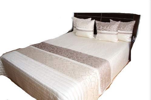 Rodnik Luxus Tagesdecke Bettüberwurf Turin 3 TLG. Set mit 2 Kissenhüllen in Größe: 260x240cm - Art. 839