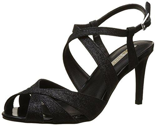 Buffalo Shoes Damen RK 1610-128 Glitter Riemchensandalen, Schwarz (Black 01), 39 EU