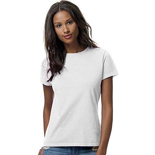 Hanes Women's Nano T-Shirt, Medium, White